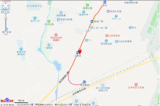 三里花城交通图
