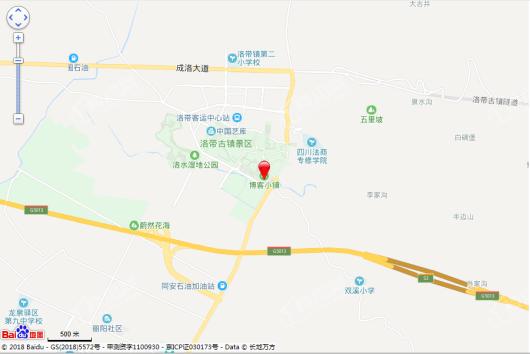 华侨城博客小镇尔雅小院交通图