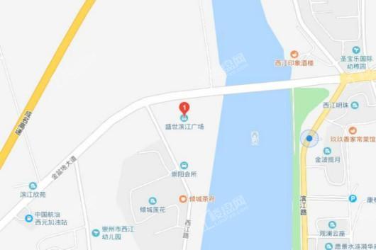 盛世滨江广场交通图