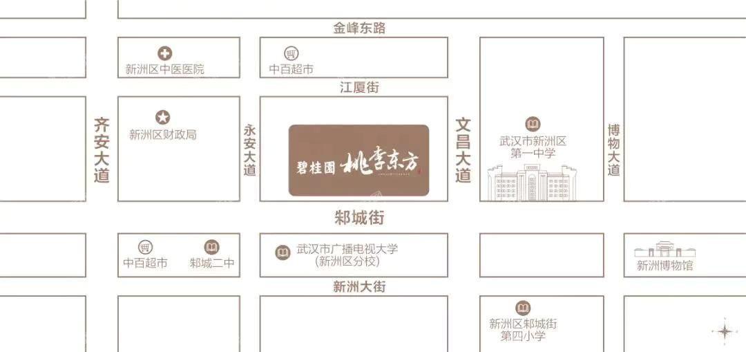 碧桂园桃李东方位置图