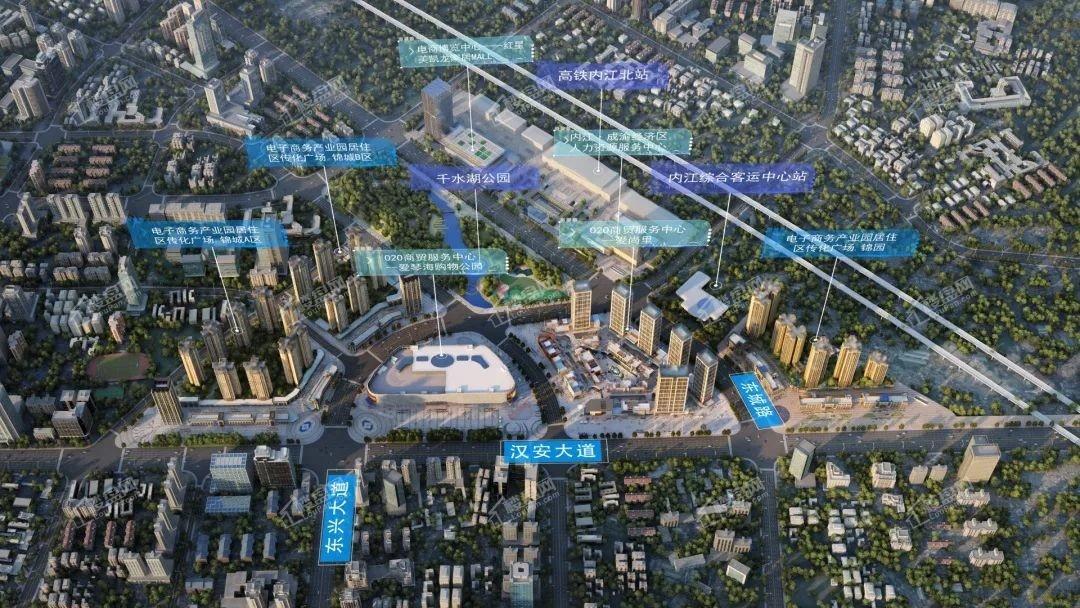 传化广场·锦城A区效果图