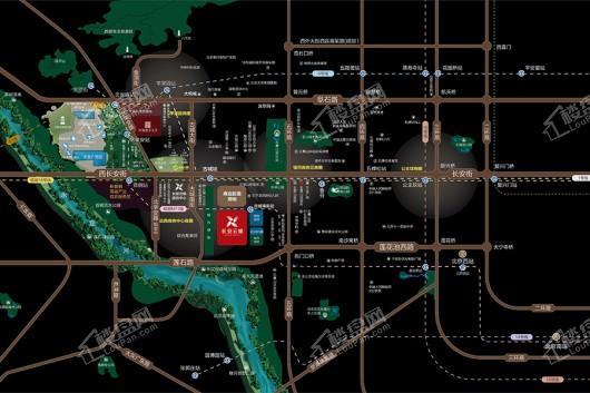 中海首钢·长安云锦交通图