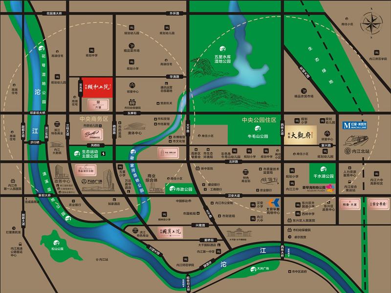 邦泰·颐和上院位置图