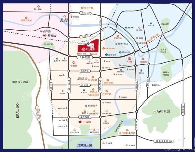 龍地萬福城位置圖