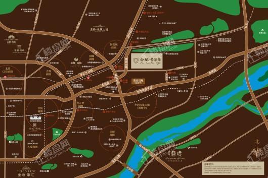 金地·艺华年交通图