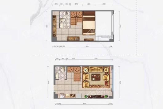 四海自由家户型图