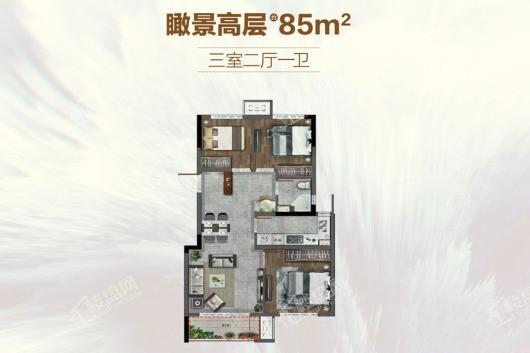 孔雀城新京学府户型图
