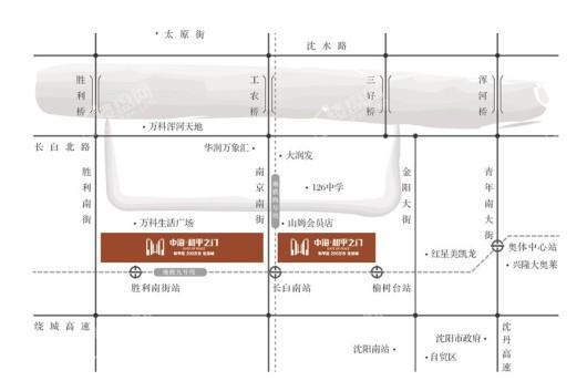 中海和平之门棠颂交通图