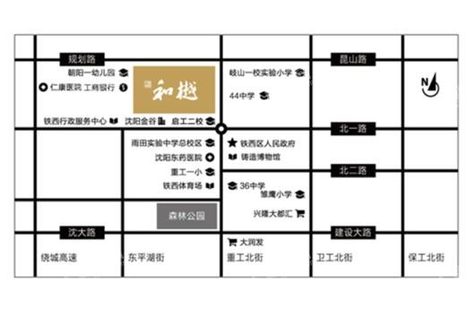 中南旭辉和樾交通图