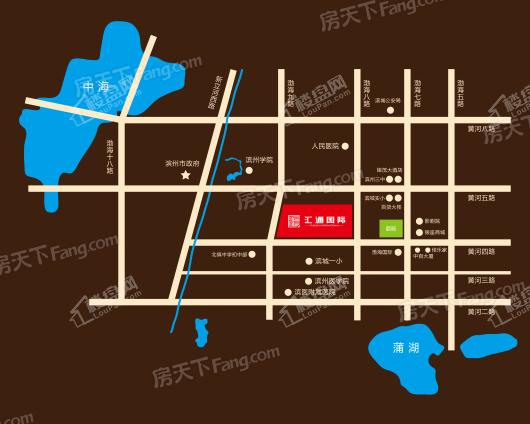 汇通国际交通图