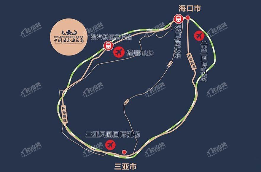 中国海南海花岛位置图