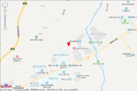 郴州美的·仁大·铂悦府交通图