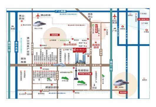 佛山绿地中心交通图