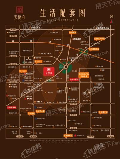 天悦府交通图