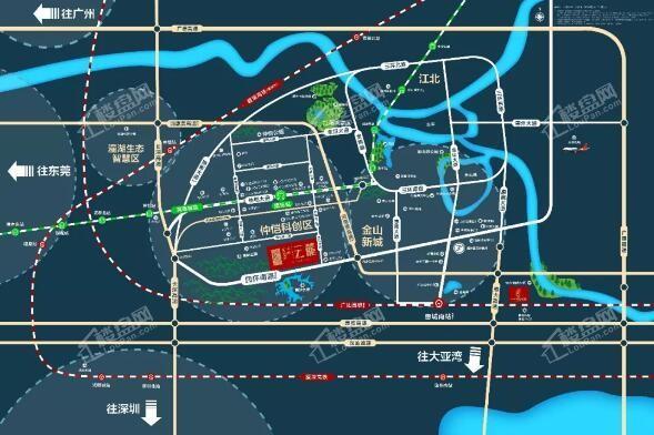 碧桂园中洲·云麓花园位置图