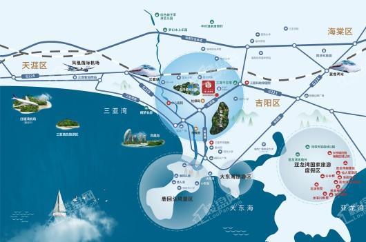 中粮·三亚大悦中心交通图