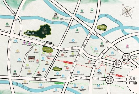 京汉·耕天下交通图