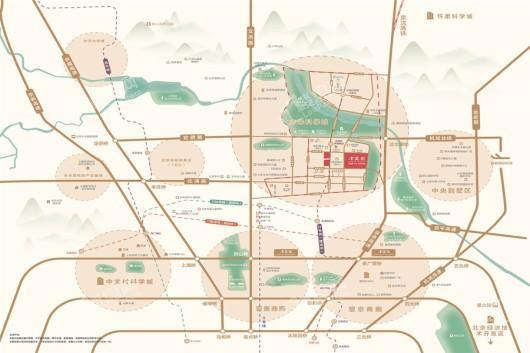 未来金茂府交通图