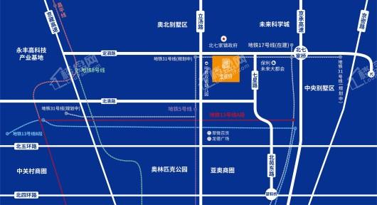 金辰府交通图