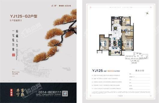 碧桂园·丰宁首府YJ125-G2户型 3室2厅2卫1厨