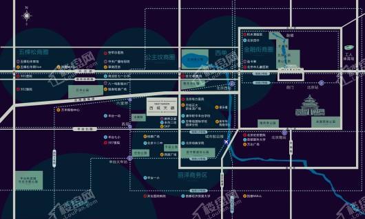 西城天铸交通图