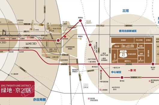 绿地·京21区交通图