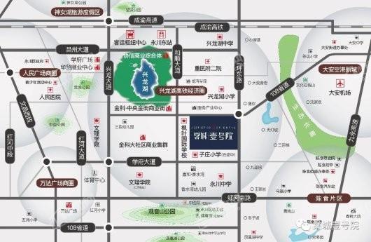 棠城壹号院交通图