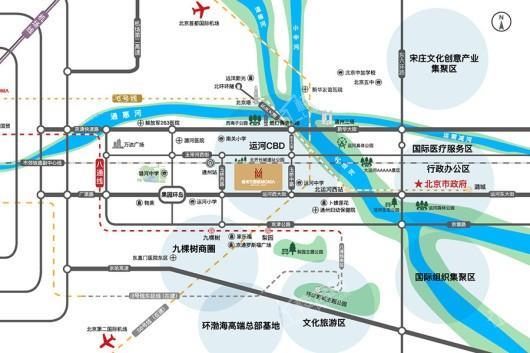 通州万国城MOMA交通图