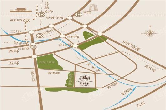 北京城建·海梓府·玫瑰墅交通图