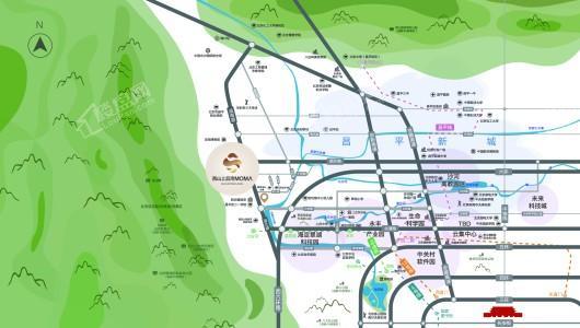 西山上品湾MOMA交通图