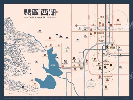 翡翠西湖交通图