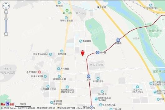 北京诺德彩园交通图