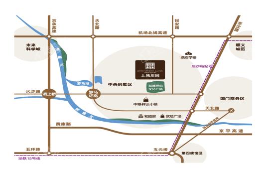 金隅上城庄园交通图