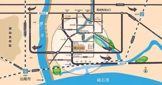 陆丰龙光玖龙府交通图