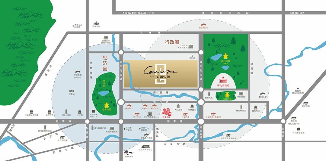 公园央著位置图
