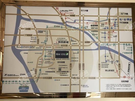奥园星悦交通图