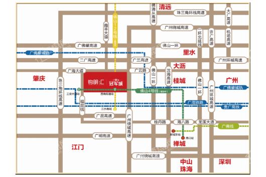 三水钧明汇(商业)交通图