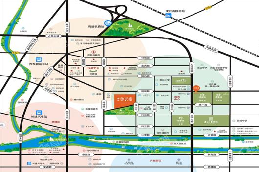 沈丘建业美好家交通图