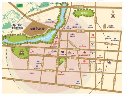 隆尧福美六号院交通图