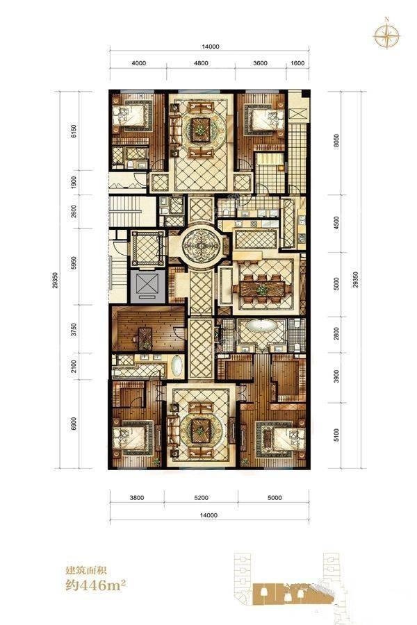 5室3厅4卫446米