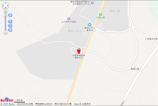 中国青城国际颐养中心交通图