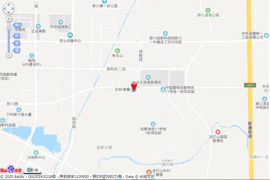 天创蓉耀(商铺)交通图