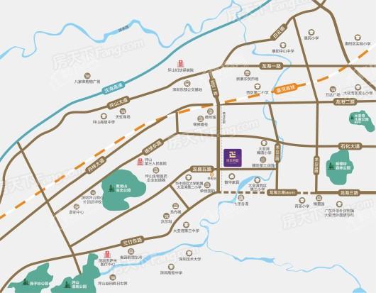 润金名苑交通图