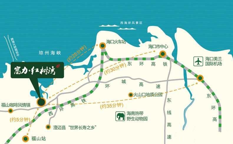 富力红树湾位置图