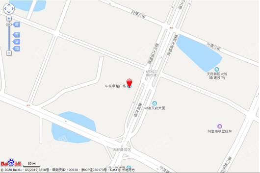 中铁卓越阁交通图