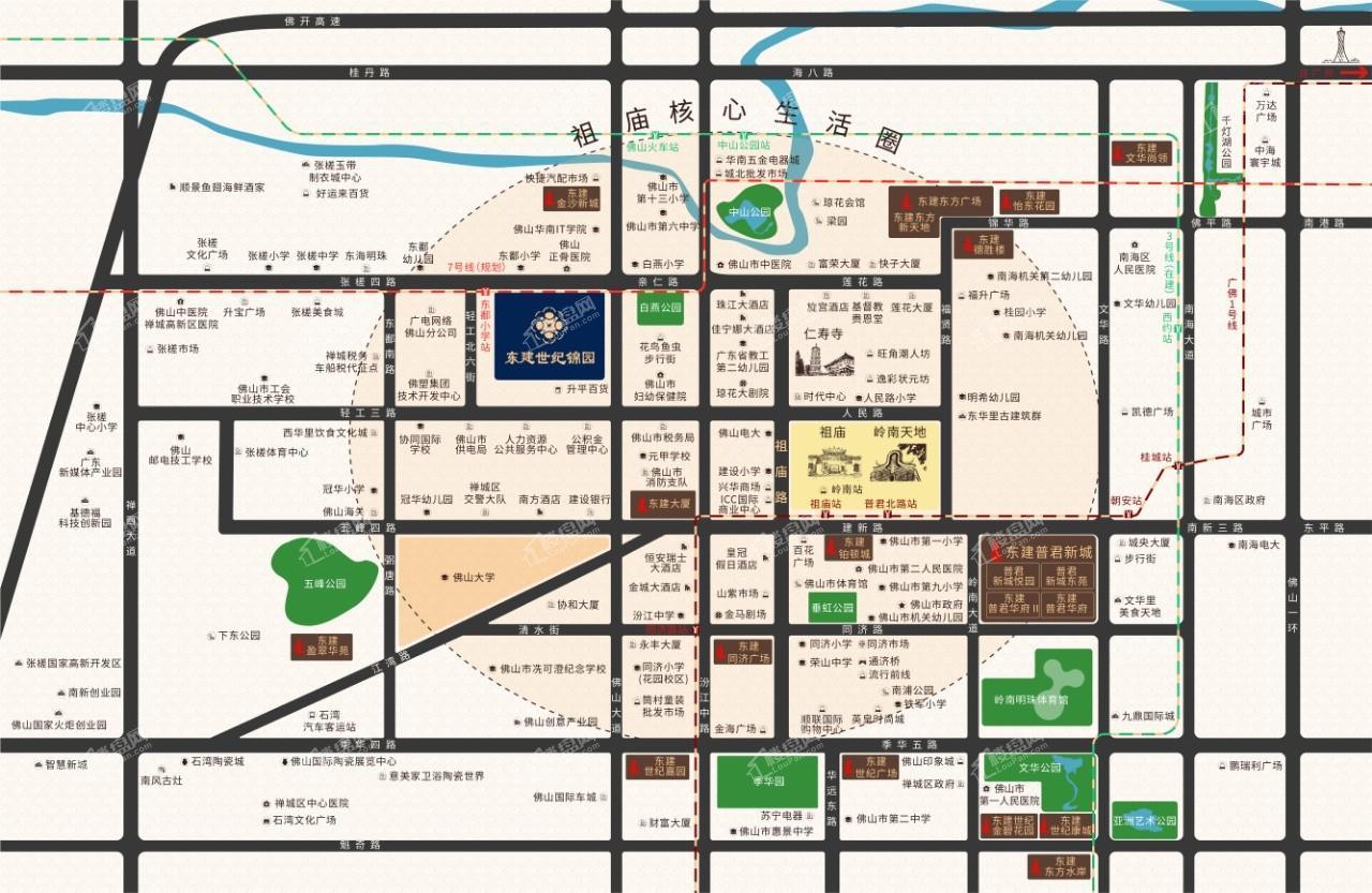 东建世纪锦园位置图