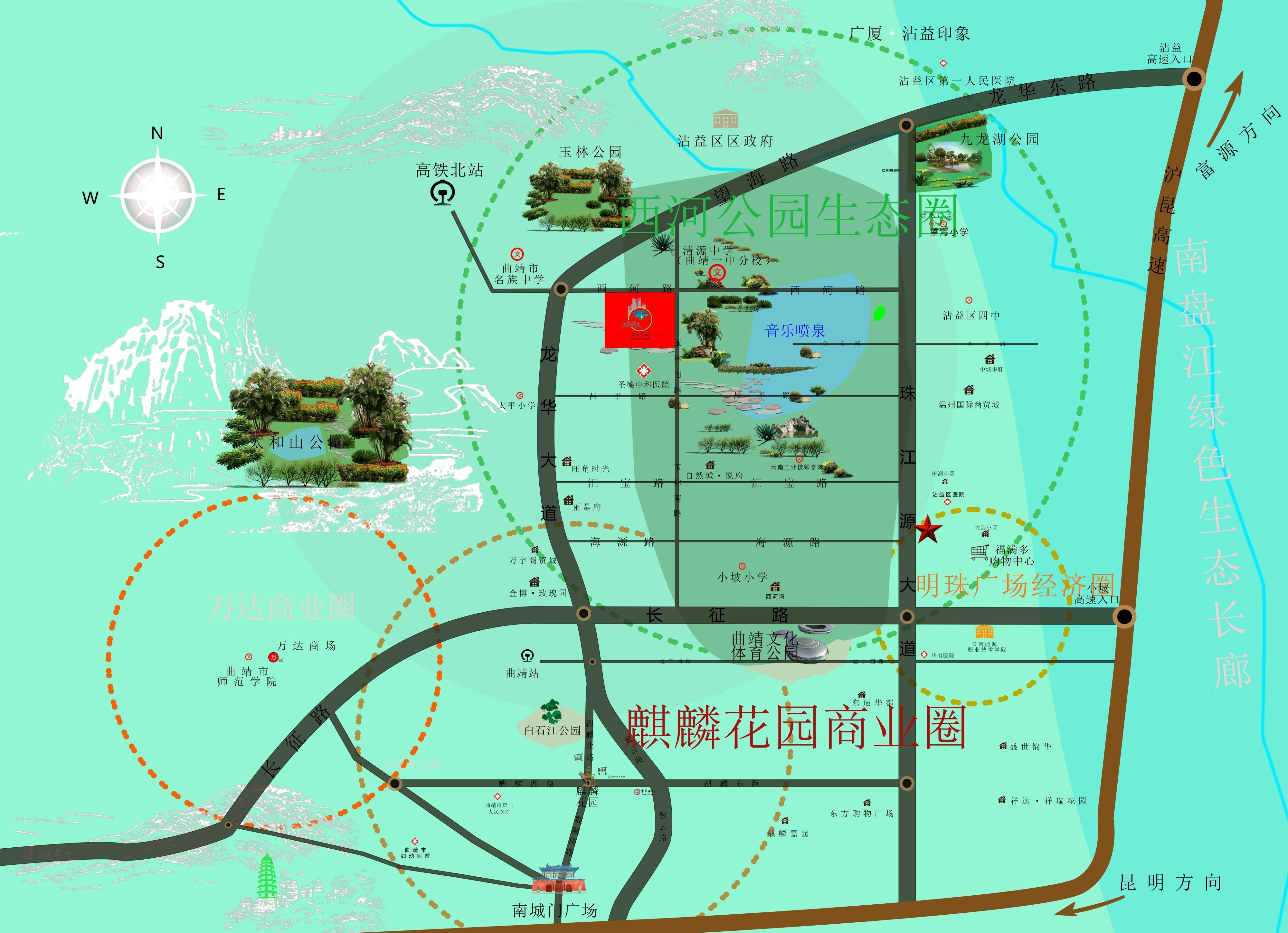新桥佳苑位置图