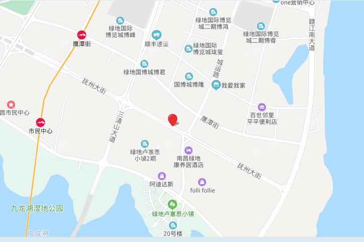 金地金茂九峯府位置图