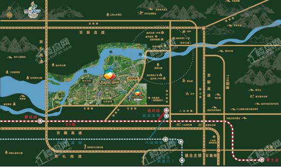 世园村位置图