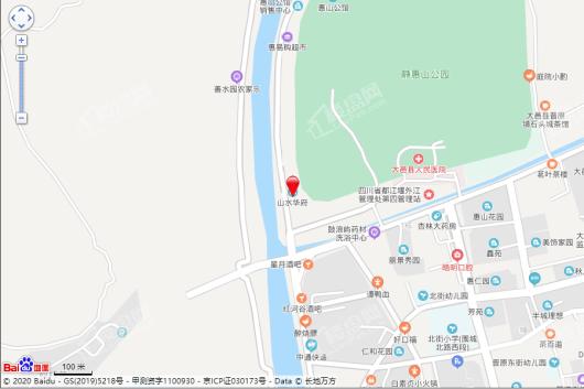 山水华府交通图